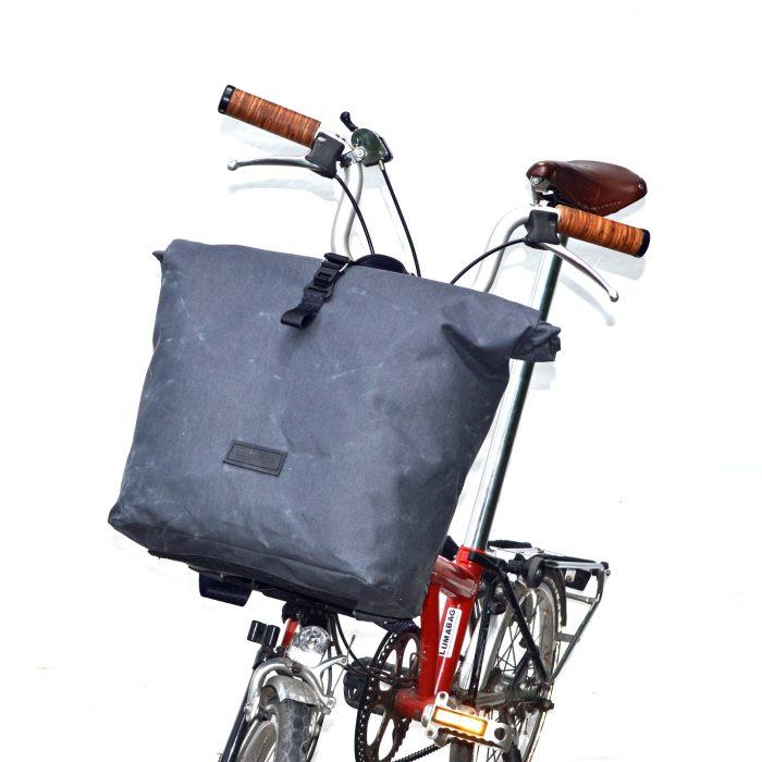 Rucksack für Brompton grau