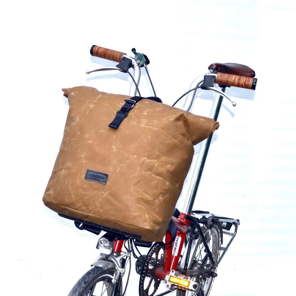 Rucksack für Brompton tan