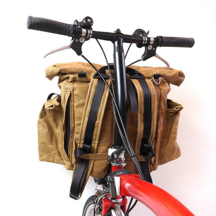 bromfort back tan with bike